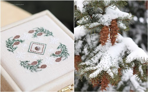 snowflakes in the pines