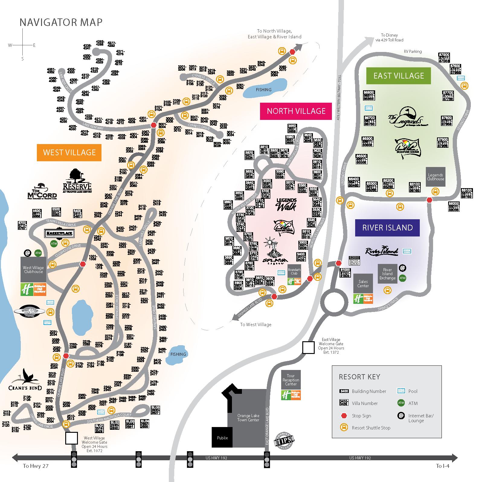 Holiday Inn Orange Lake Resort Map Orange Lake Resort Map | Bedroom 2018