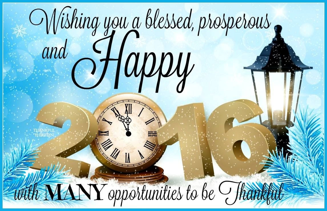 Wishing You A Blessed Prosperous And Happy New Year 2016 Pictures
