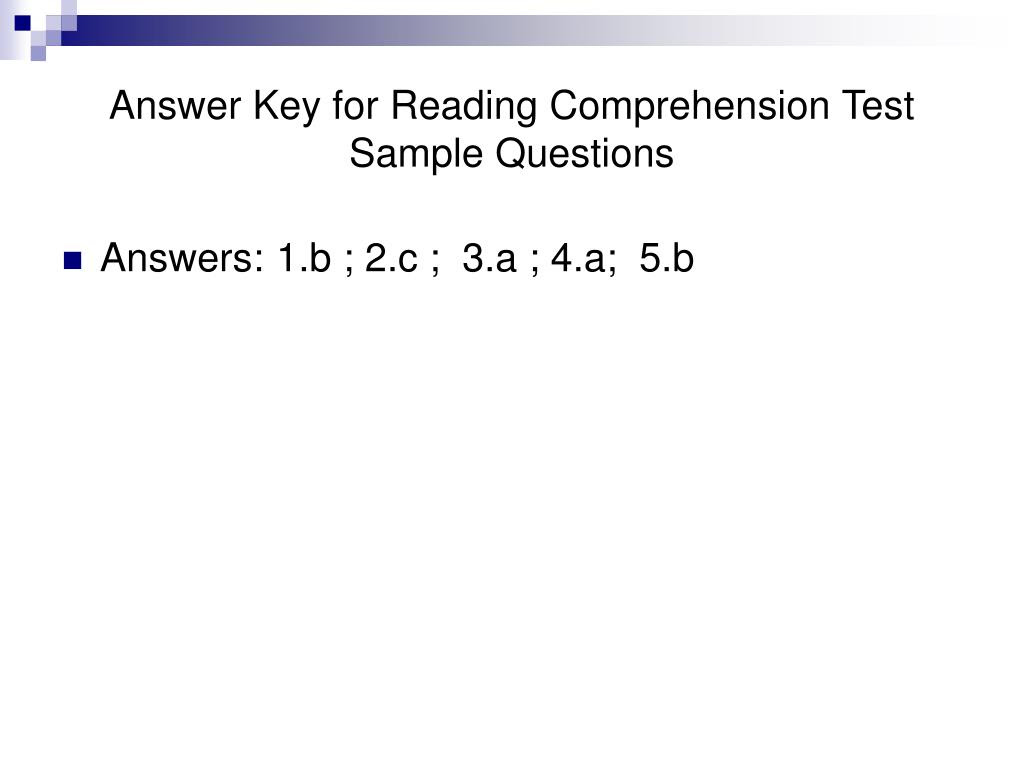 PPT Accuplacer Reading Prehension Test PowerPoint