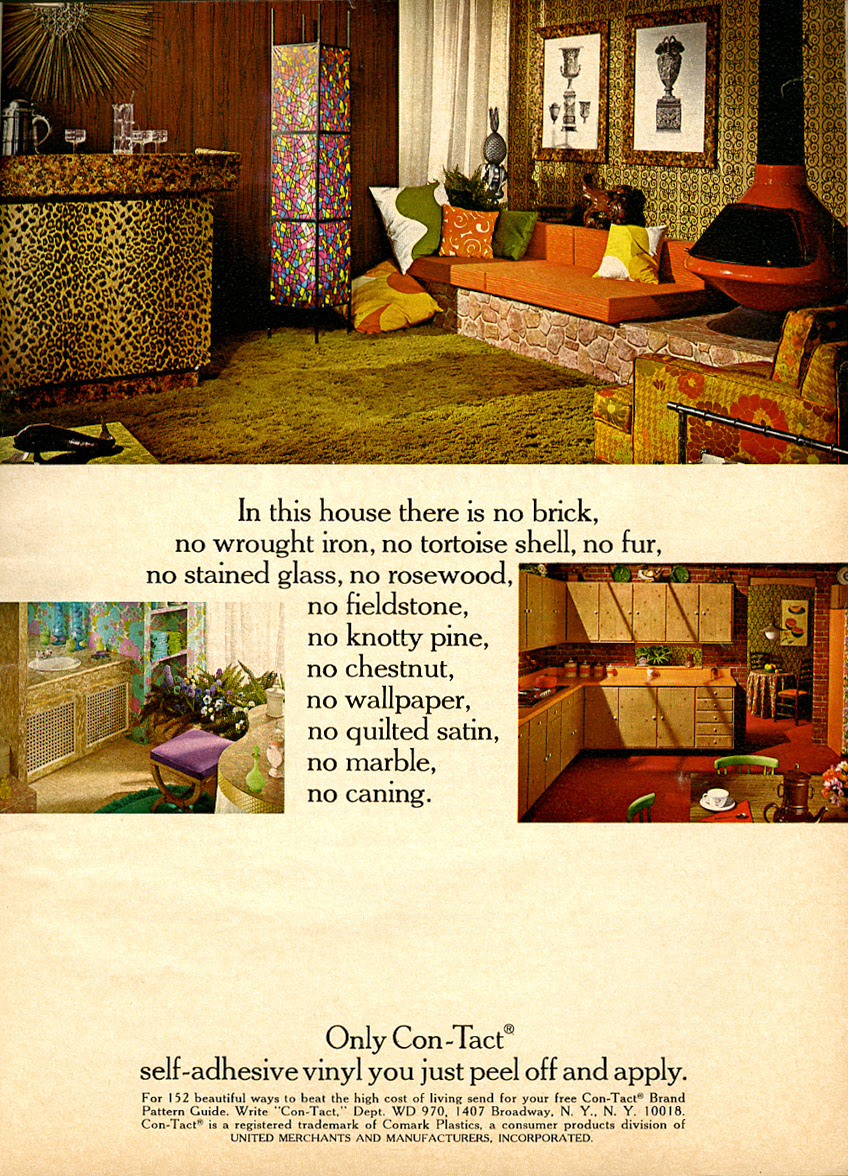 contact paper decorating_1970_tatteredandlost