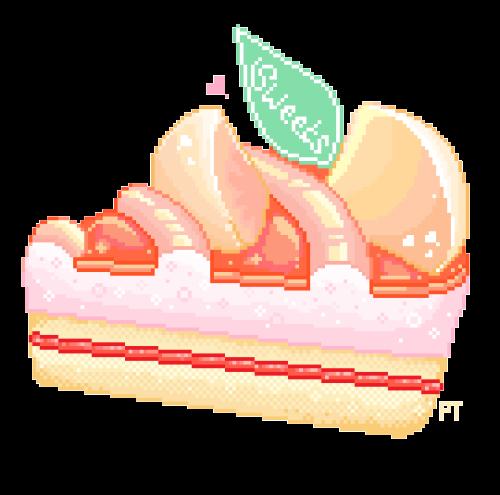 peachy cake  ✿< inspo dessert