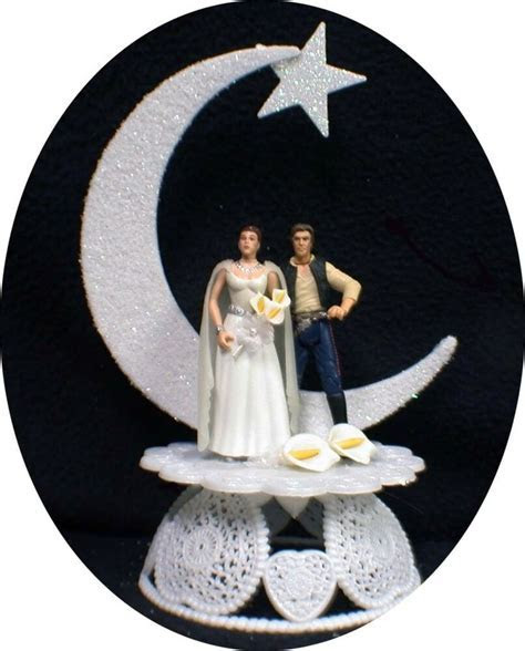 Star War Wedding Cake Topper Han Solo & Princess Leia