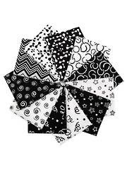 Reflections Black Fat Quarters-11/pkg.
