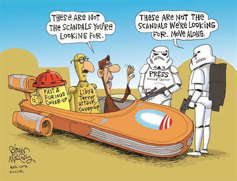 Image result for obama scandal free cartoon