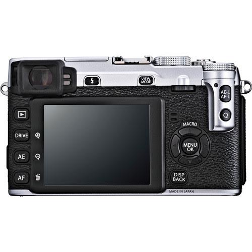 Fujifilm X-E1 Digital Camera Kit with XF 18-55mm f/2.8-4 OIS Lens (Silver) - Rear