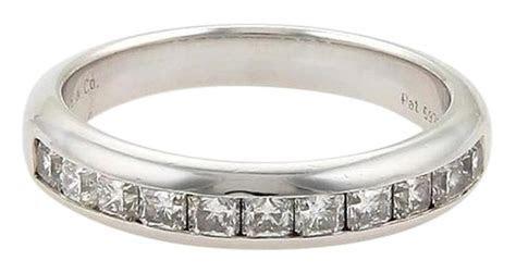 Tiffany & Co. Platinum Lucida Diamonds Half Circle Wedding