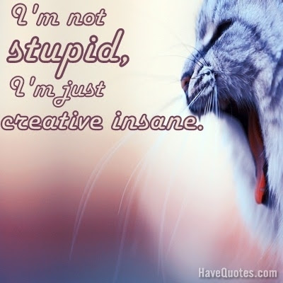 Im Not Crazy Im Just Creative Insane Quote Life Quotes Love