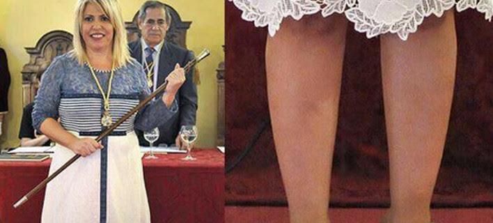 Η στιλιστική γκάφα που έγινε viral -Η δήμαρχος με τα δάχτυλα έξω από τα πέδιλα [εικόνες]
