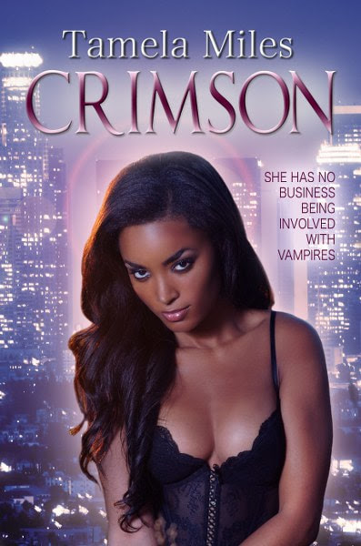 Book Cover for paranormal romance novel Crimson by Tamela Miles.