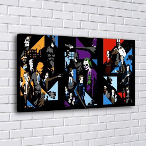 Home Decor 12 X22 Collage Dark Knight Comics Batman Home Decor Hd Canva Print Art Painting Home Garden Ohioeyecareconsultants Com