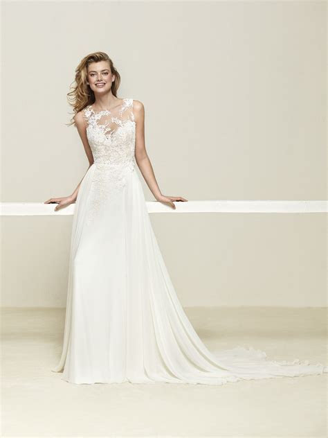 Designer Pronovias SKU Druelia   VeLace Bridal   Wedding