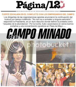Página/12 cover, March 26, 2008