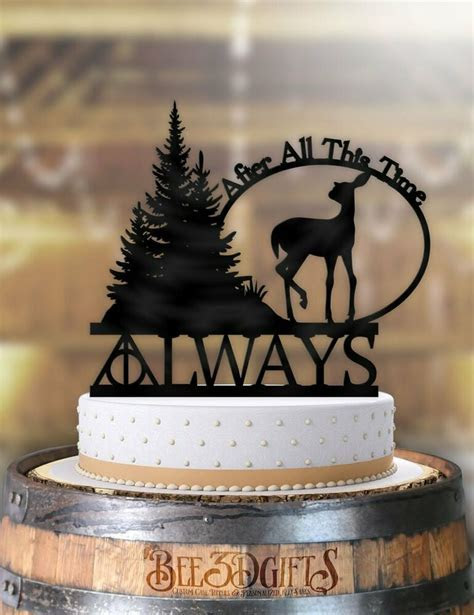 Harry Potter Always After All This Time Deer Wedding Cake