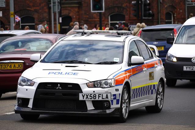 Humberside Police Mitsubishi Evo YX58FLA.