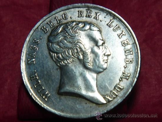 Medallas históricas: medalla de Guillermo de Nassau,año 1840,plata - Foto 1 - 21871466