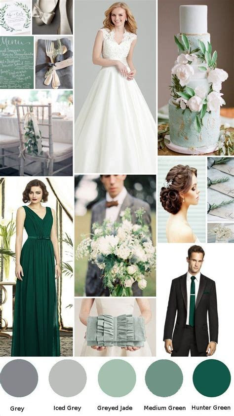 Hunter green Wedding with grey   Colour sceme in 2019