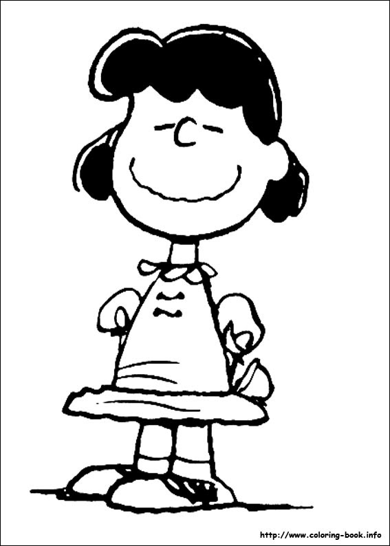 Snoopy coloring picture
