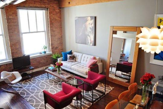 alteregodiego:  Living room with exposed brick