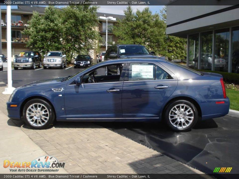 2009 Cadillac STS 4 V6 AWD Blue Diamond Tricoat / Cashmere ...