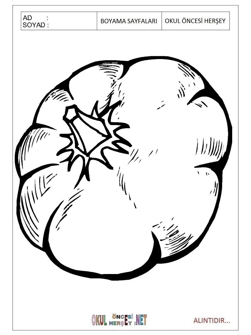 Bal Kabağı Boyama Sayfaları