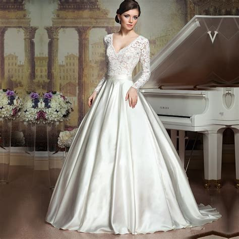 Aliexpress.com : Buy Vestido De Noiva Lace Long Sleeves