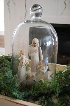 Interesting way to display a nativity.