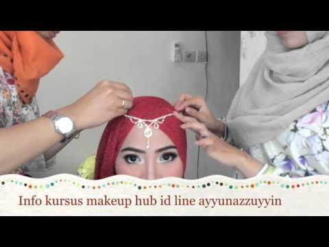 VIDEO : tutorial hijab pesta simple ( kursus makeup ayyun) - instagram ayyunazzuyyin booking makeup / kursus hub id line ayyunazzuyyin. ...