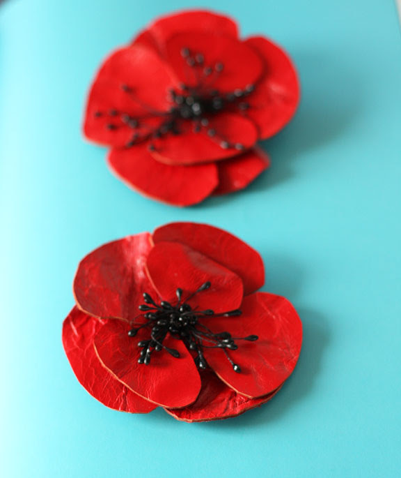 Poppy shoe leather clips