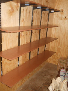 First Shelves in the Pantry
