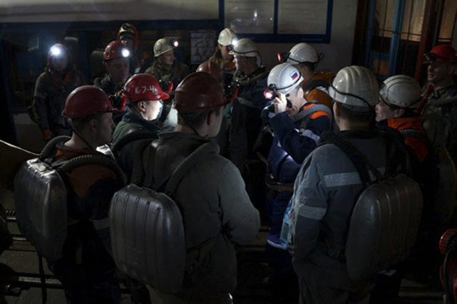 L'accident dans la mine, située près de Vorkouta,... (PHOTO AP)