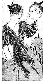 """Modelos de Chantal publicados na """"Folha da Manhã"""", em 7 de maio de 1933"""