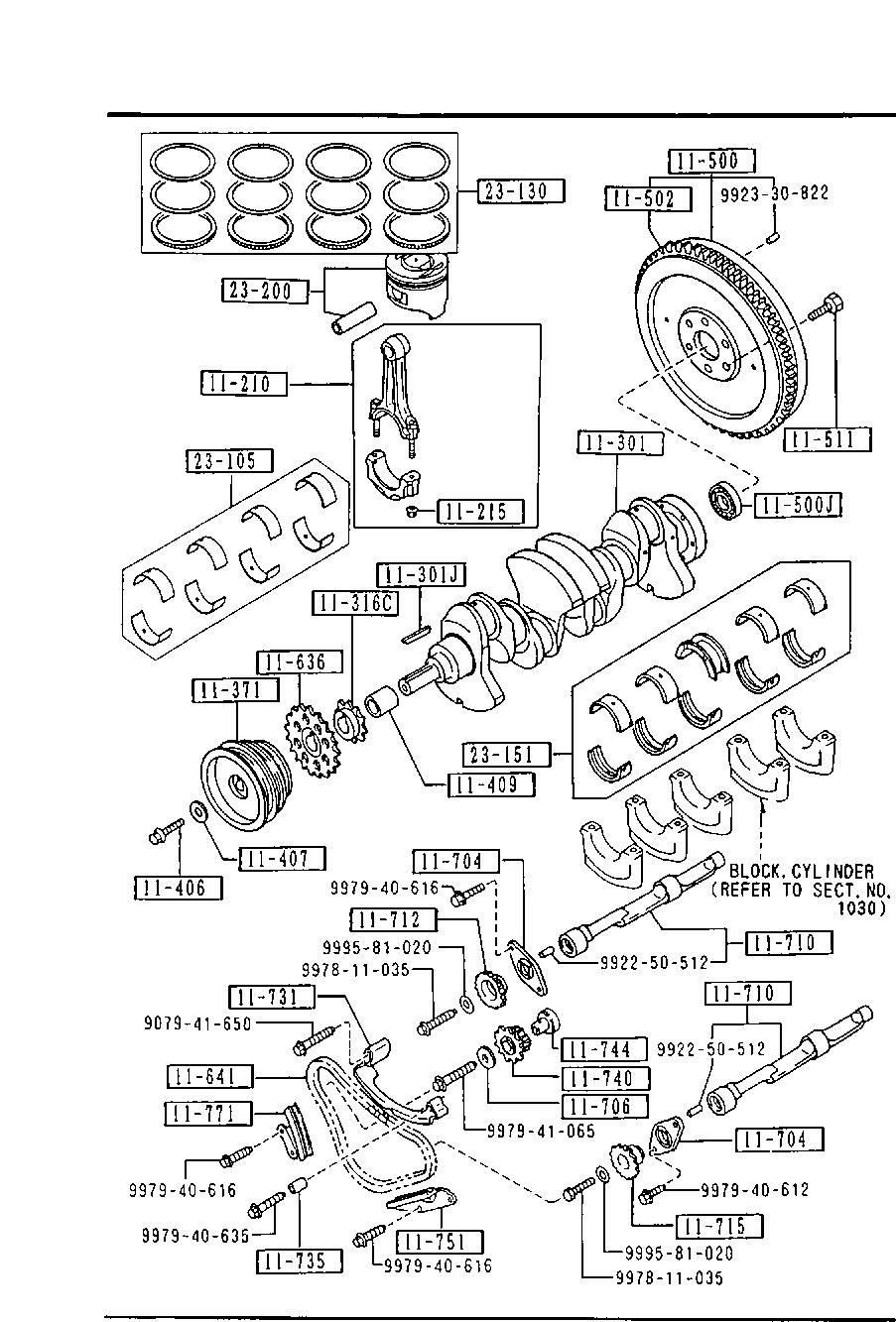 Europe B2200 Uf 11 1989 Gasoline Engine 4 Cylinder Transmission 1100 B Piston Crankshaft Flywheel Gasoline 2600cc Egi Catcar Info