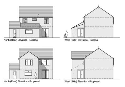 simple bungalow planning  section  elevation house