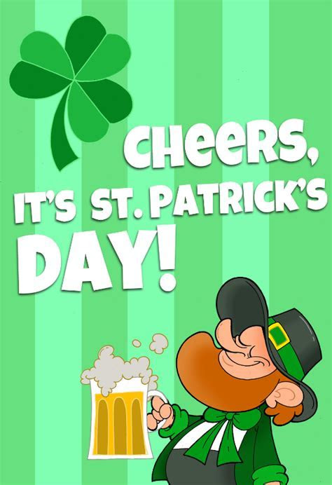 Its St Patricks Day   St. Patrick's Day Card (Free