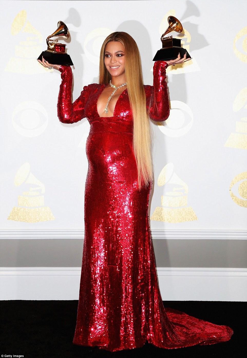 Dois para gêmeos: Beyonce levou para casa dois, incluindo Melhor Álbum Contemporâneo Urbano e Melhor Vídeo de Música