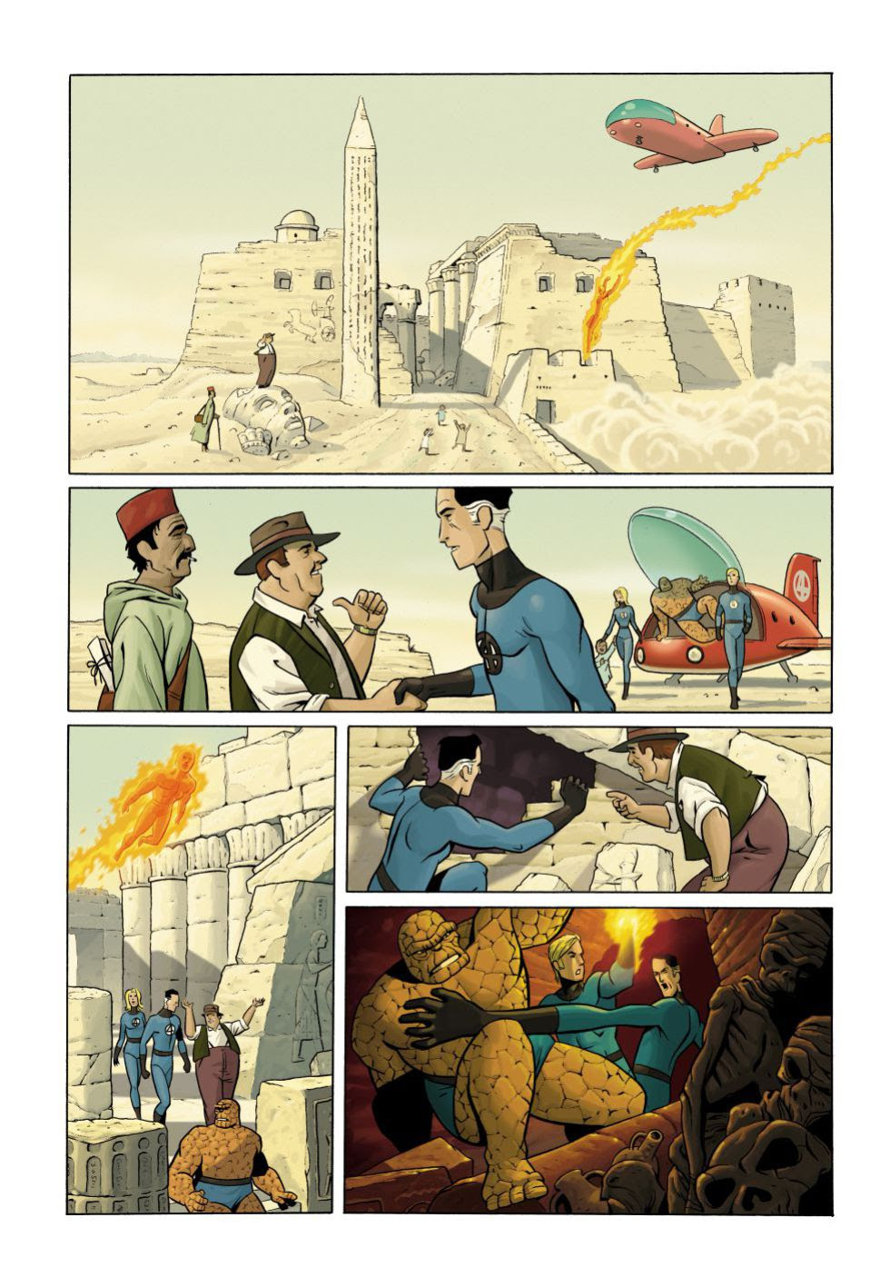 Paco Roca dibuja 'Los Cuatro Fantásticos'.