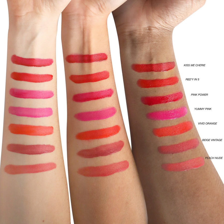 Lancome Matte Shaker High Pigment Liquid Lipstick Swatches