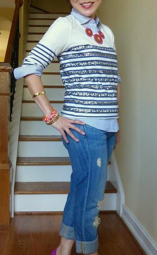 sequin stripes