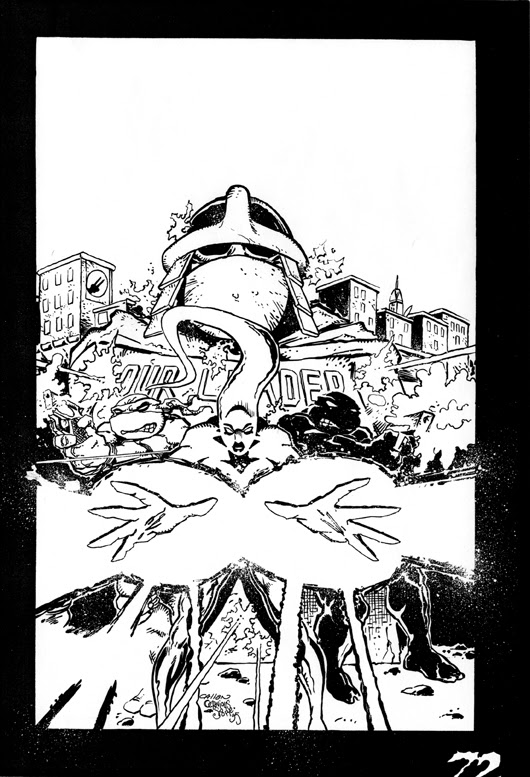 'The Forever War'   Unused TMNT Adventures #72 cover..((TMNTA story Never released)) [[courtesy of S. Murphy]]