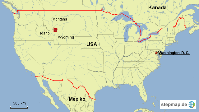 Usa Map Alaska Hawaii