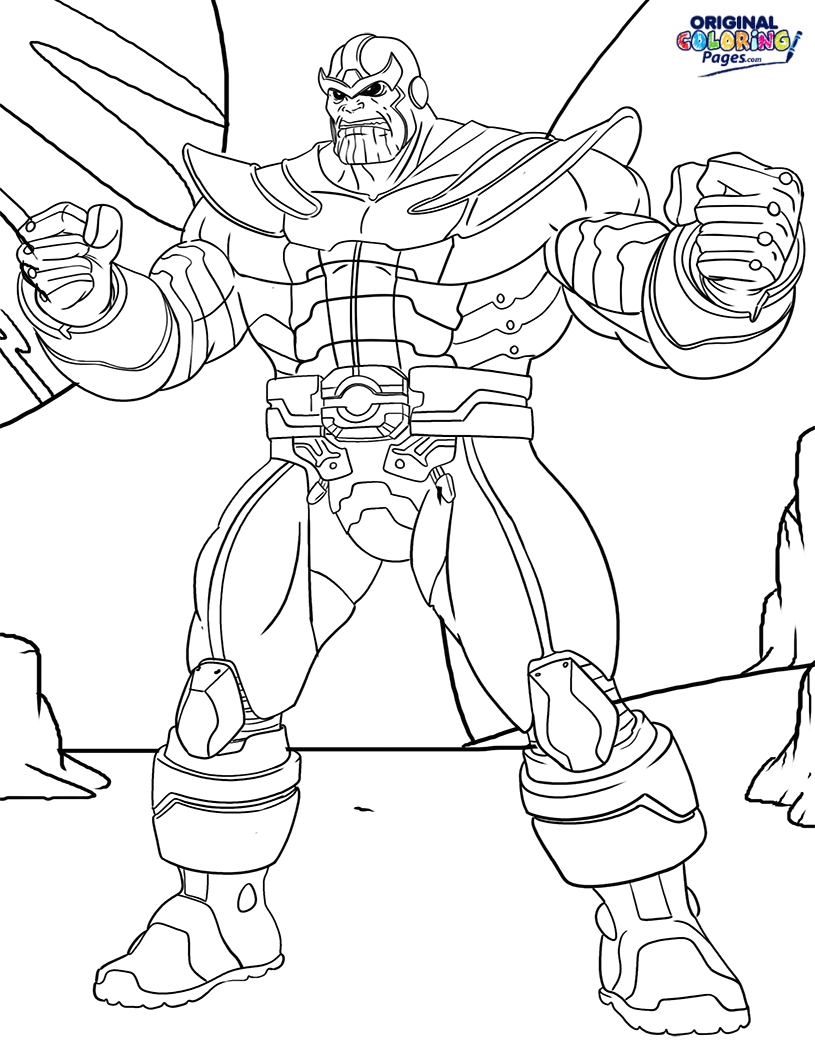 Thanos Coloring Pages at GetColorings.com | Free printable ...