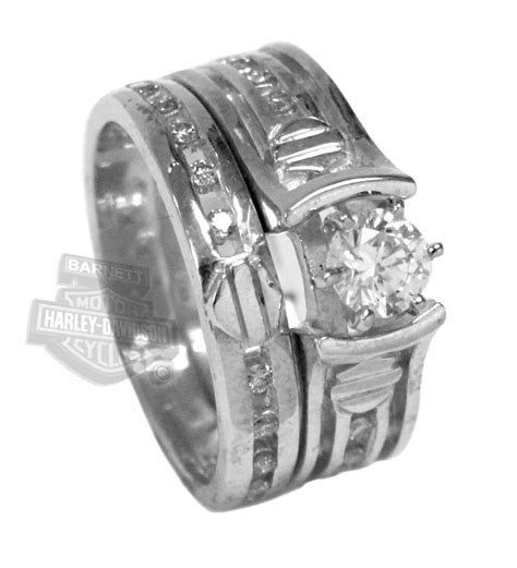 7 Unique Harley davidson wedding ring sets : Woman Fashion