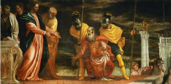 Jesus healing the servant of a Centurion - Veronese Paolo