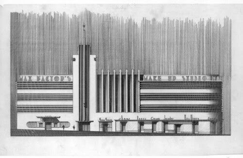 Max Factor Building, Hollywood - rejected concept drawing