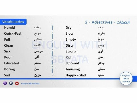 تمرين لفظ مفردات هذا الاسبوع pronunciation exercise