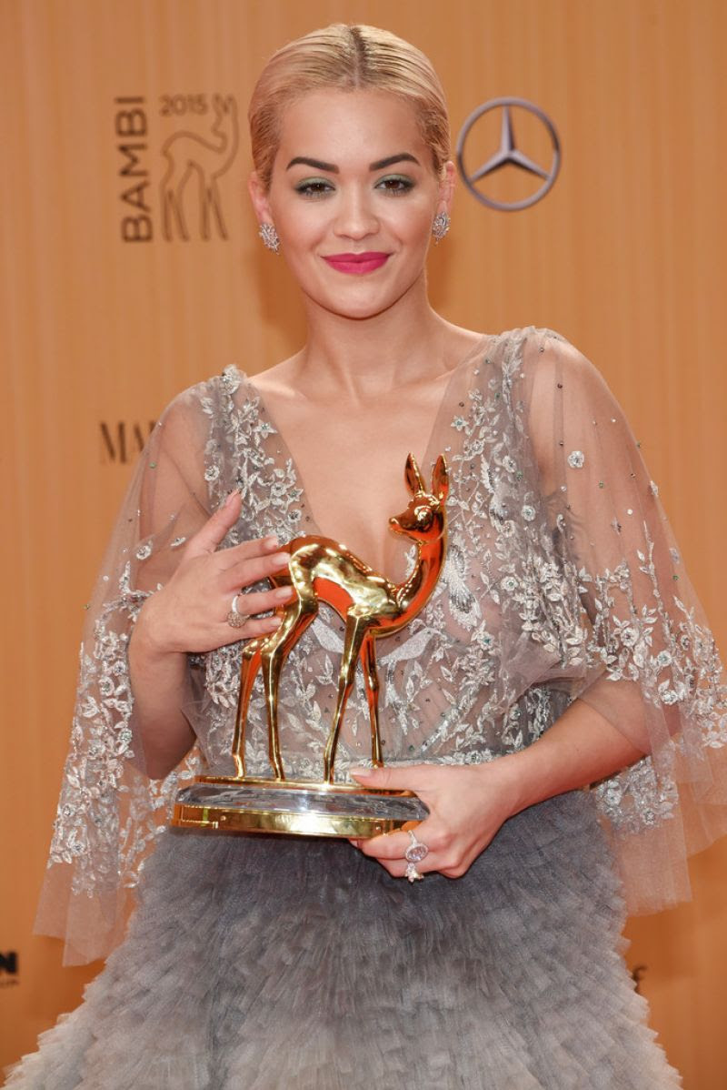 RITA ORA at Bambi Awards 2015 in Berlin 11/12/2015