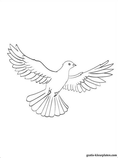 kleurplaat duif gratis kleurplaten