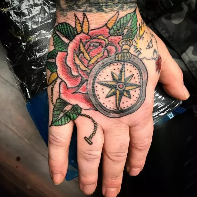 75 Rose And Compass Tattoo Designs Meanings Choose Yours2019