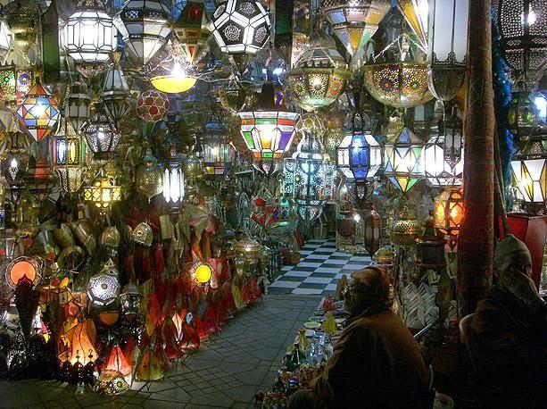A piacok Trákia ihlette Marrakech ...